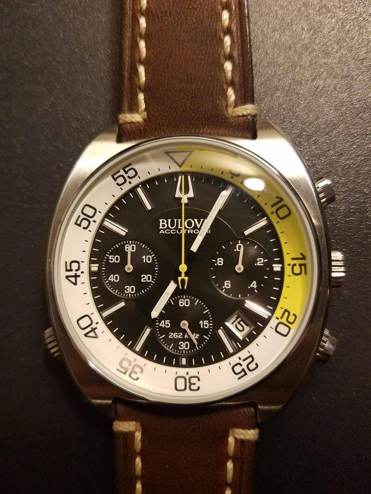 New Bulova Snorkel Chronograph + Hirsch Strap