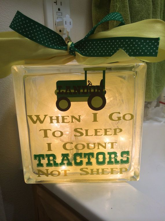 John Deere Green Night Light by gracefullyjaded on Etsy, $30.00