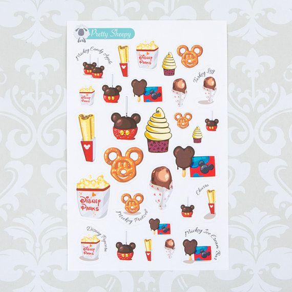 Disney Parks Snacks & Treats Sticker Set by PrettySheepy on Etsy