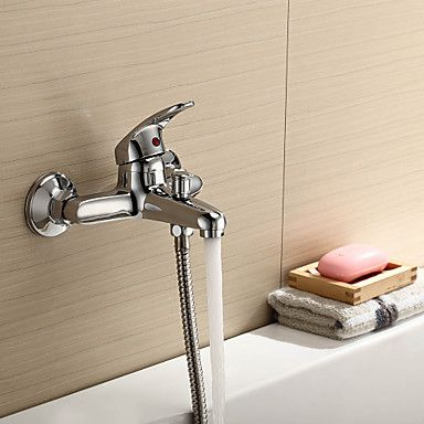 latão maciço contemporânea acabamento cromado torneira banheira banheiro – BRL R$ 145,84