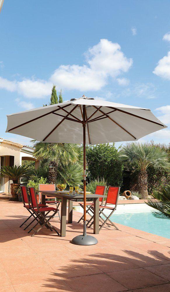Parasol Proloisirs Bois 300 8 Ecru Bricomarche En 2020 Design Jardin Creation De Terrasse Proloisirs