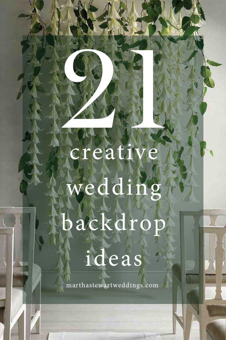 unusual wedding photos ideas%0A    Creative Wedding Backdrop Ideas   Martha Stewart Weddings