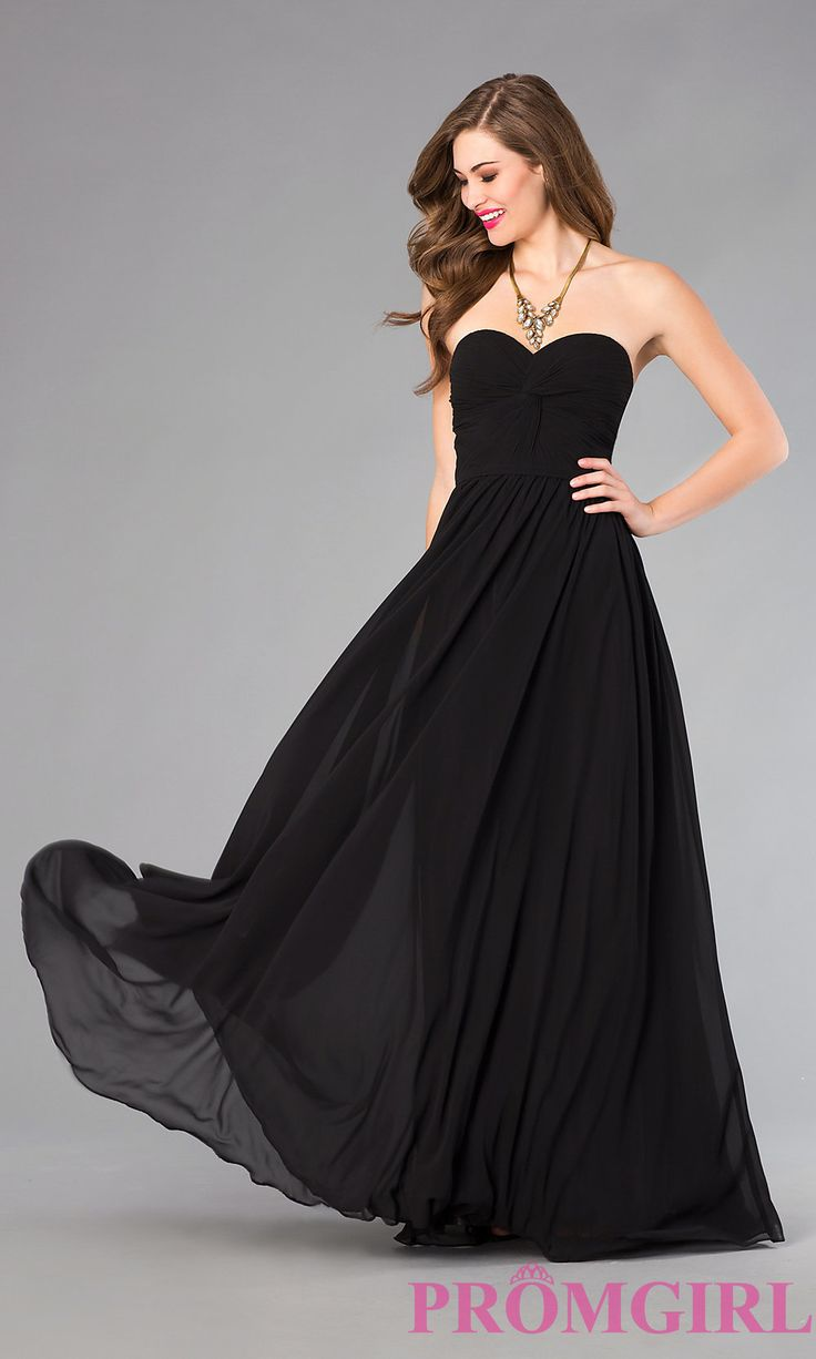 Image of Strapless Prom Dress with Lace Up Back Detail Image 3
