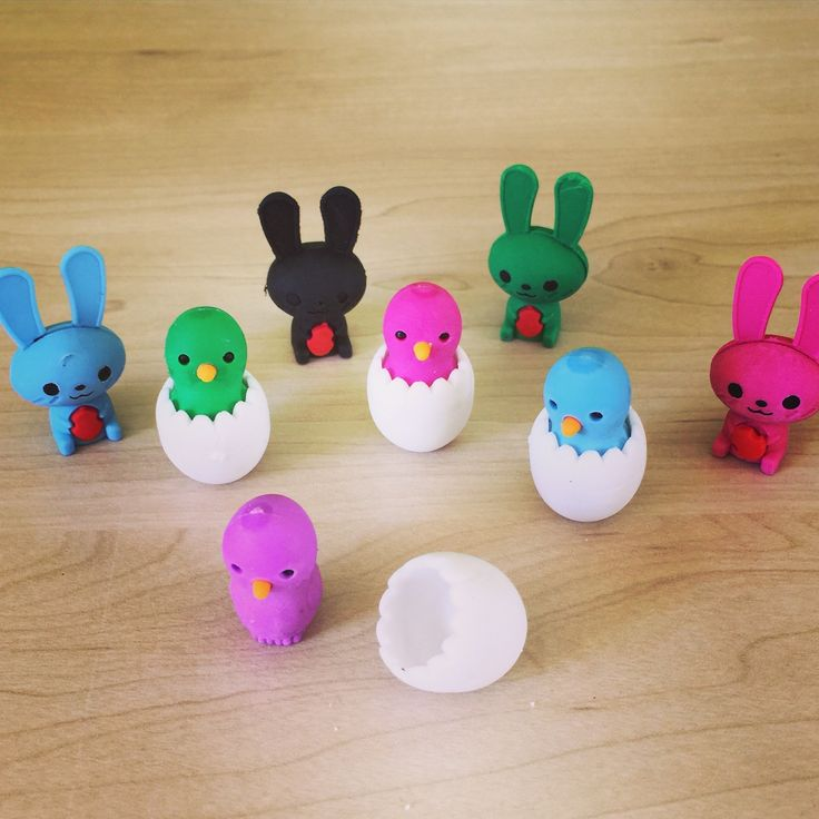 All the easter fun without the calories!! Scented erasers - Rabbits and Chicks www.tinc.net.au
