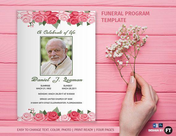 95 best Funeral Program Template images on Pinterest - program for a funeral