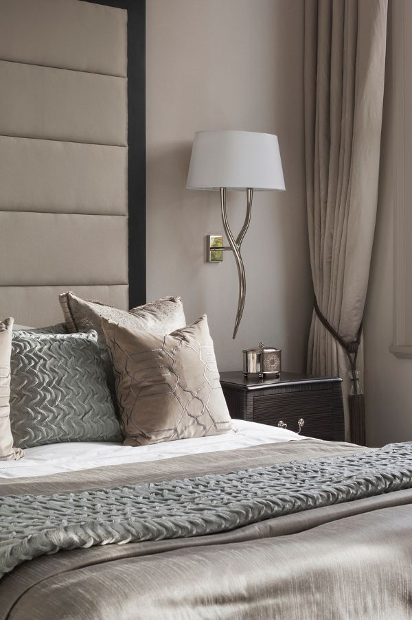 champagne neutrals in shimmering silks bedroom - dustjacket attic: Interiors | A London Home