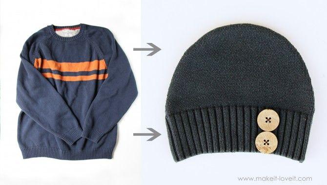 Repurpose an old sweater.  Brilliant.
