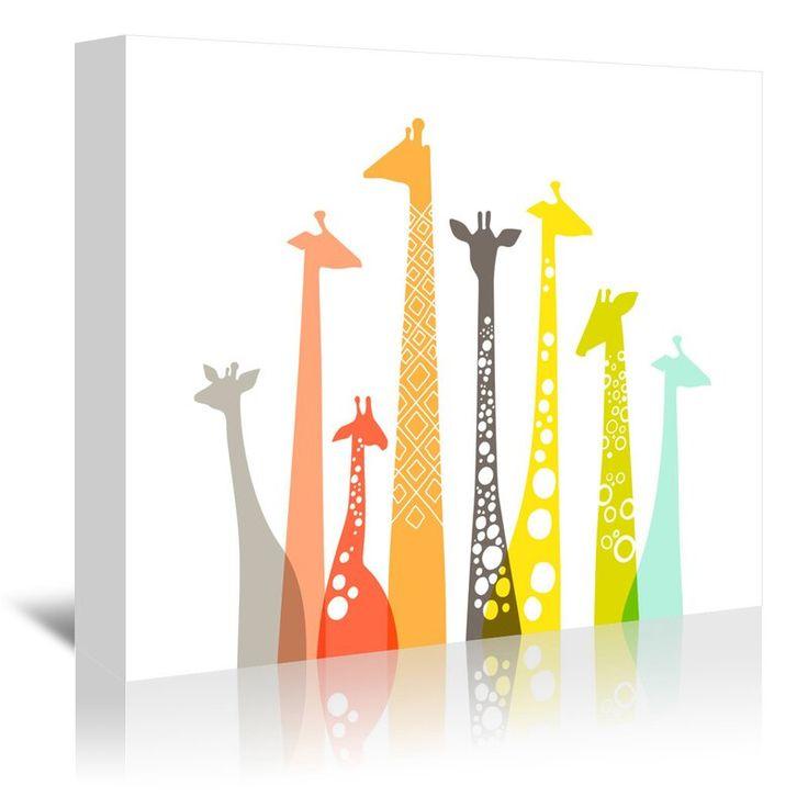 Viv Rae Giraffes Graphic Art On Wrapped Canvas Size 5 H X 7 W X 1 5 D Giraffe Wall Art Giraffe Art Posters Art Prints