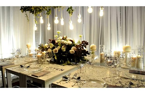 Video: Creative lavish tablescapes, a feast for the senses: design, art, food, cocktails and fashion