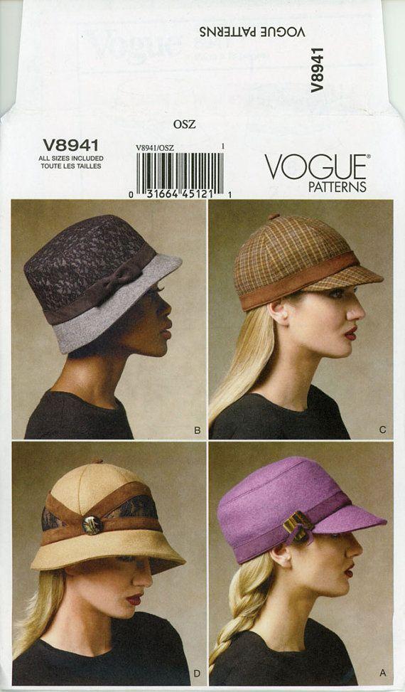 Womens chapeau patron Vogue Uncut V8941 équestre par CynicalGirl