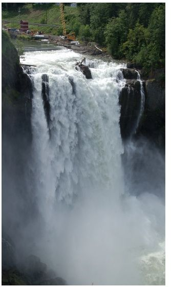 Snoqualmie Falls is one of Washington state's most popular scenic attractions. More than 1.5 million visitors come to the Falls every year. At the falls, you will find a two-acre park, gift shop,observation deck, the Salish Lodge and the famous 270 foot waterfall.