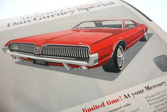 Vintage Set of Three 1960s Ford Mercury Car by WestCoastModern, $50.00