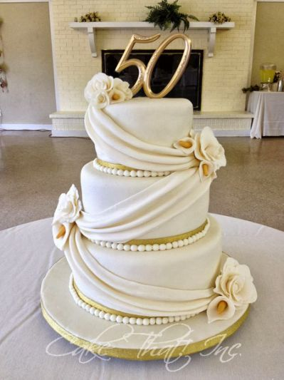 50th Wedding Anniversary Cakes Images Yahoo Search Results