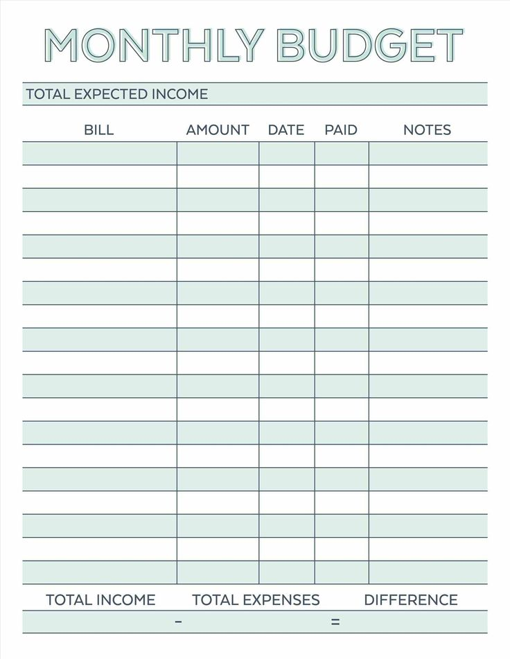 Best Bill Template Ideas On Family Budget Template
