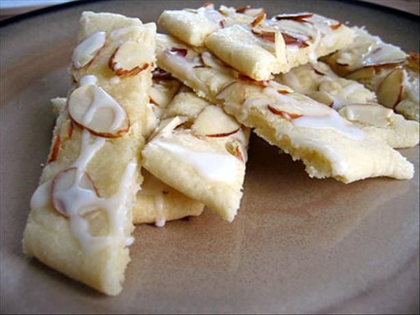 Scandinavian Almond Bars - my very favorite cookies - We make these every Christmas and Easter!