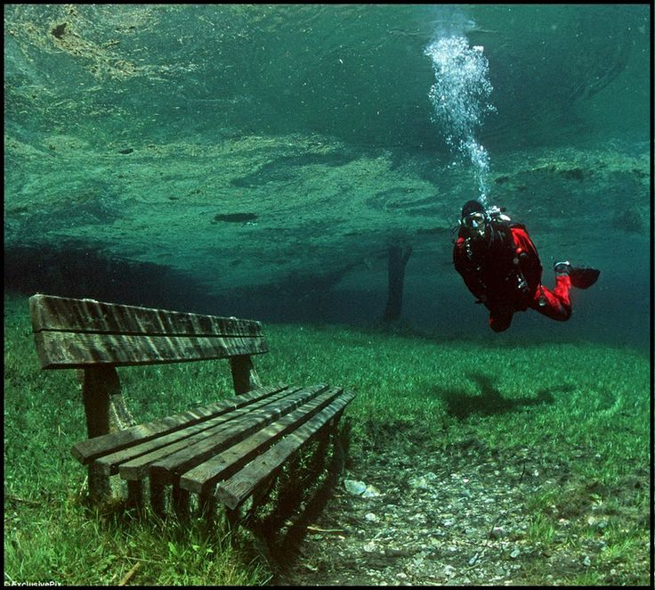 A Place In Austria that is a dry park in the Winter, and a 10m deep lake in the summer! | Amazing News