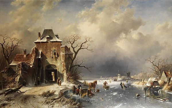Dutch Winter Landscape Charles Leickert
