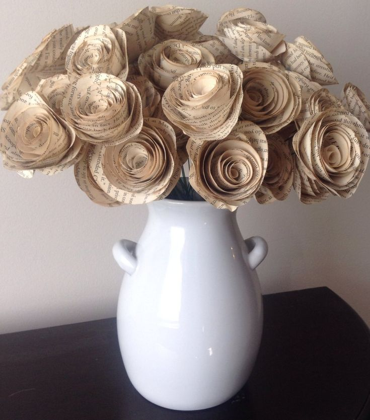 book page roses set of 30 tea stained paper roses wedding centerpiece vintage