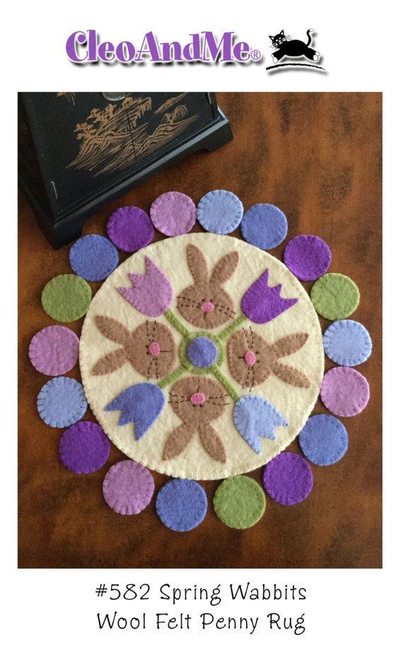 Spring Wabbits Penny Rug Pattern