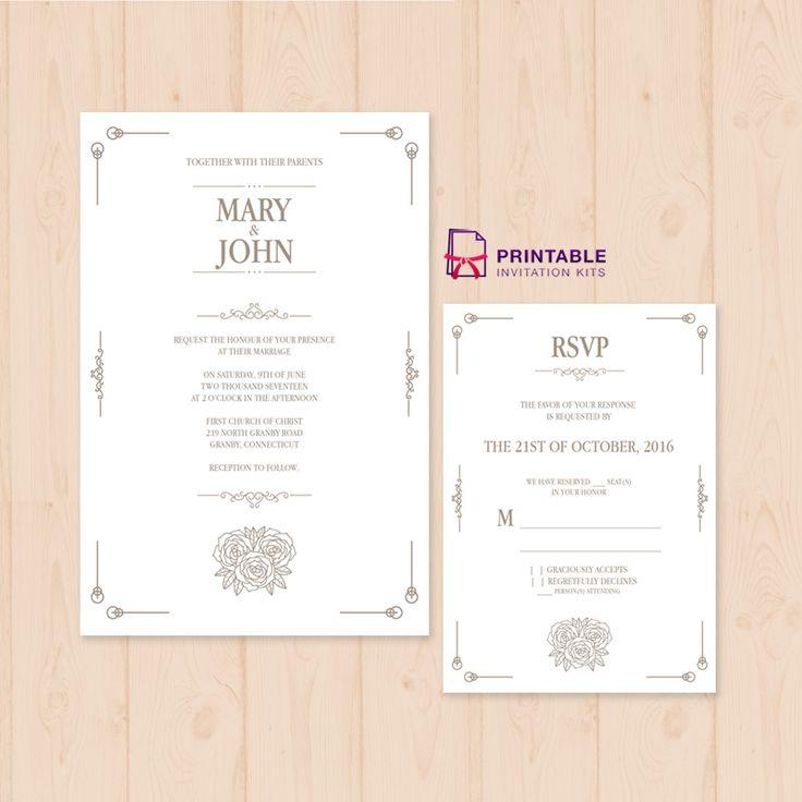 free printable wedding invitations pdf