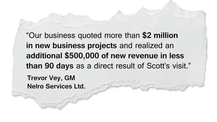 Scott Gallagher Works With The Team At Nelro Services Ltd. and Was The Catalyst To Realize The Dreams of The Company's Founder.