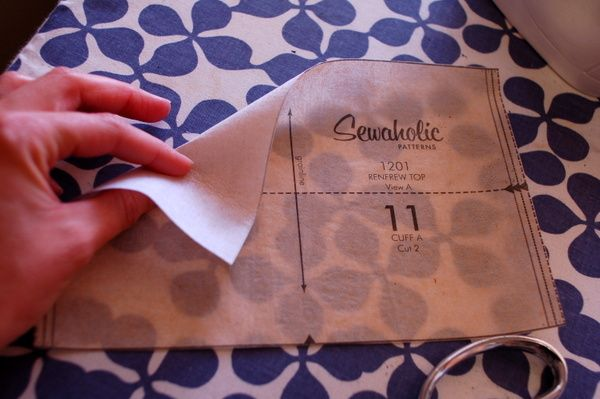 make patterns last longer: iron interfacing to your pattern pieces