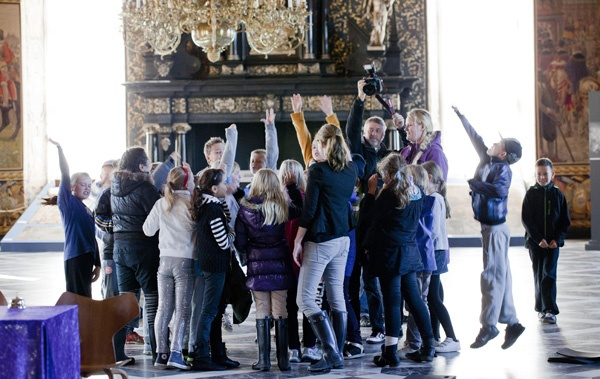 It's good to be the winners - in the Great Hall of Frederiksborg Castle