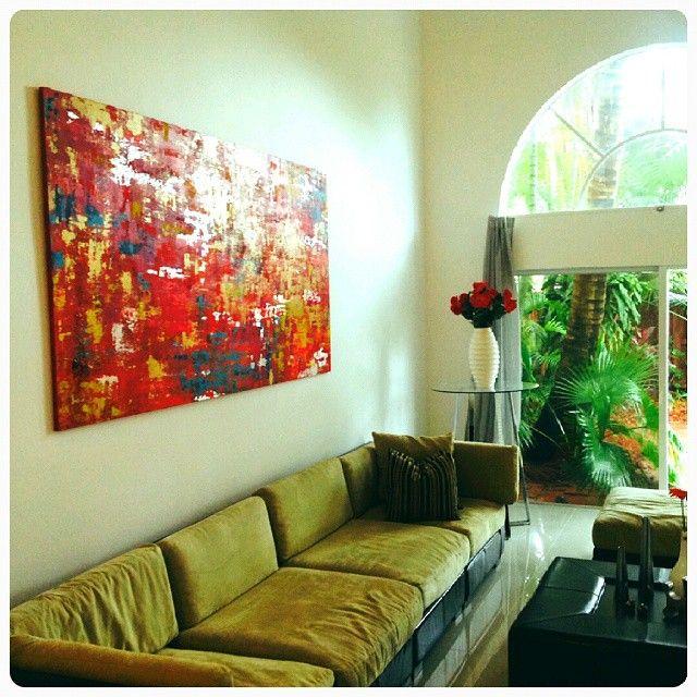 Cuadro abstracto vendido en #Miami