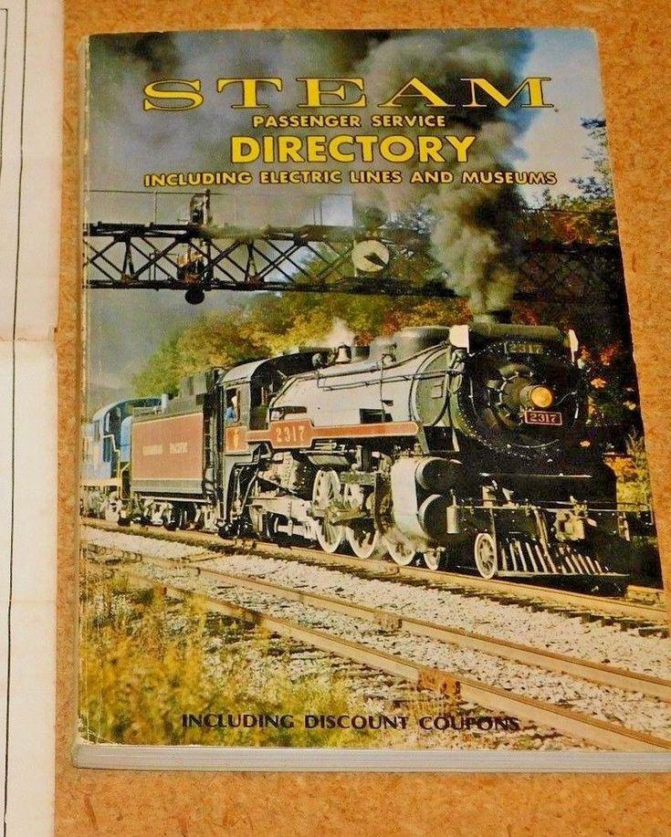 Steam Passenger Service Directory -1985 -Softback Book-Empire State Rail Museum