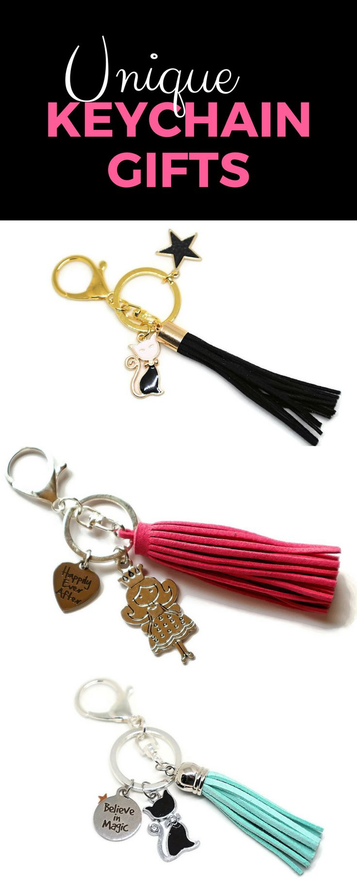 Unique keychain gifts for fairytale lovers, bookworms, and dreamers! LittleMollyGrue keychains are playful, magical, and come in various colors! They make great gifts for womens - girlfriend, mother, daughter, sister or best friend, they'll all love them! They also make perfect stocking fillers and housewarming gifts!
