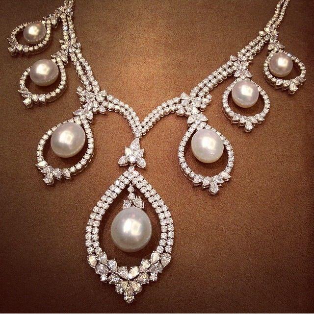 Pearl and Diamond Necklace - Farah Khan Ali