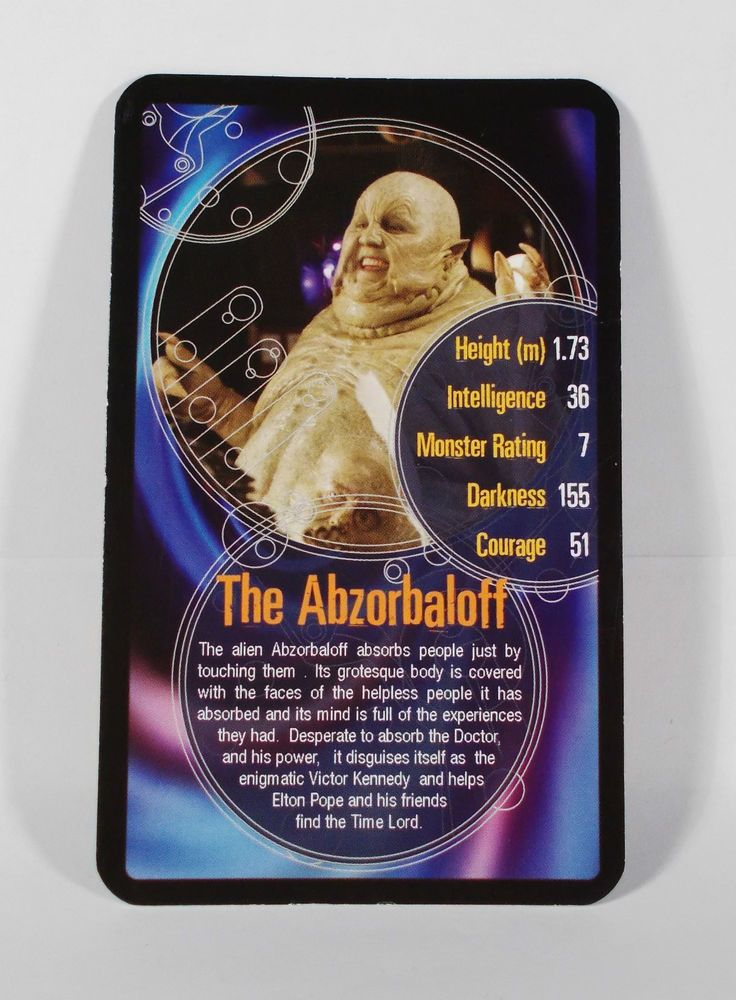 Top Trumps - Doctor Who - Super Top Trump Card - The Abzorbaloff - BBC 2006