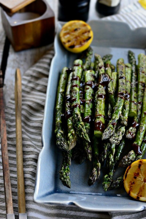 Grilled Asparagus with Balsamic Honey-Dijon Dressing