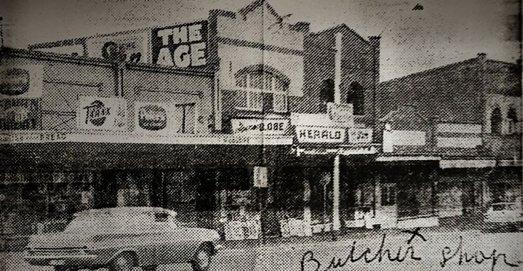 The Lost shops of Burwood 1968.   Now in Hartwell/Camberwell on the Corner Lithgow Street & Toorak Road, these 6 shops were demolished for a Amoco petrol station.   There was A.D.I electrics, sub-newsagency, wool shop, milk bar & delicatessen.   Now Kmart tyre & auto.