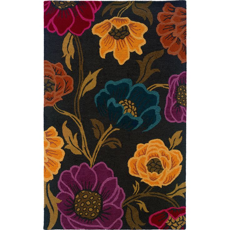 Oriental Weavers Transitional Grey Gold Wool Floral Hand-Tufted Area Rug