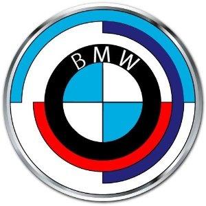 Bmw Vintage Old Logo Car Bumper Sticker Decal 4x4 Bmw
