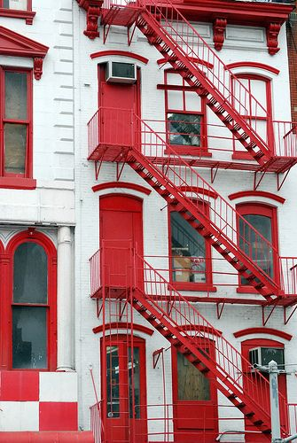 Fire Escape Stairs, Canal Street, New York City. (I know this... this is Pearl Paint, art supply mecca)