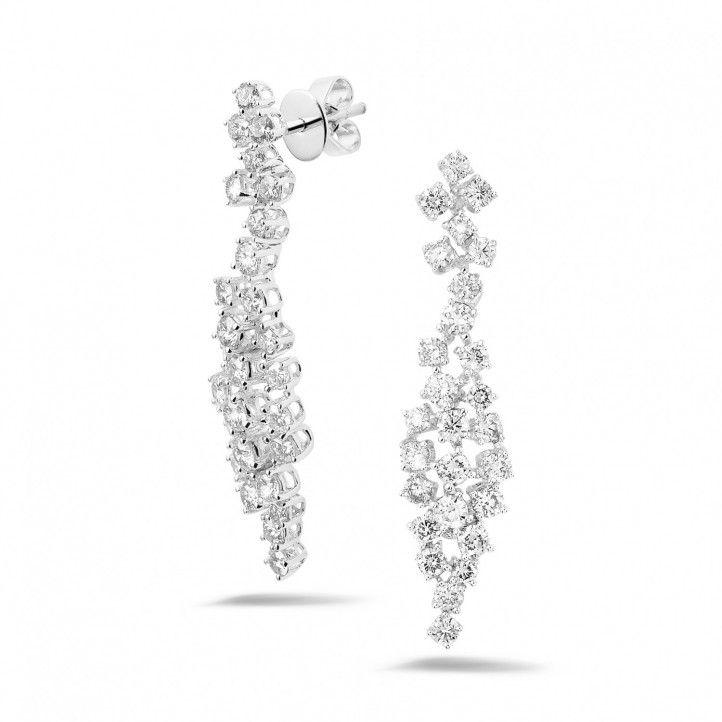 2.90 caraat diamanten oorbellen in wit goud