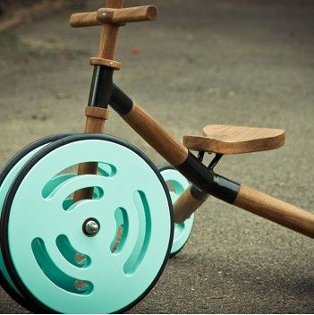 Kids' tryicycle, handmade from wood.