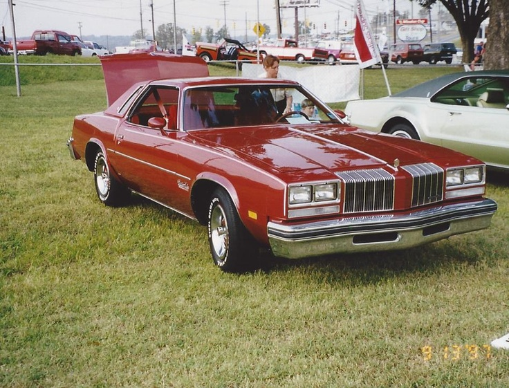 1977 cutlass salon my sunburst orange cutlass has white
