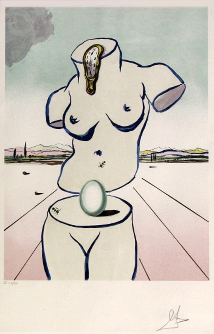 SALVADOR DALI - BIRTH OF VENUS - GREGG SHIENBAUM FINE ART MIAMI http://www.widewalls.ch/artwork/salvador-dali/birth-of-venus/ #Print