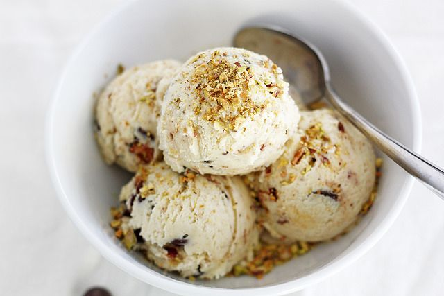chocolate pistachio ice cream with candied bacon bits pistachio ice ...