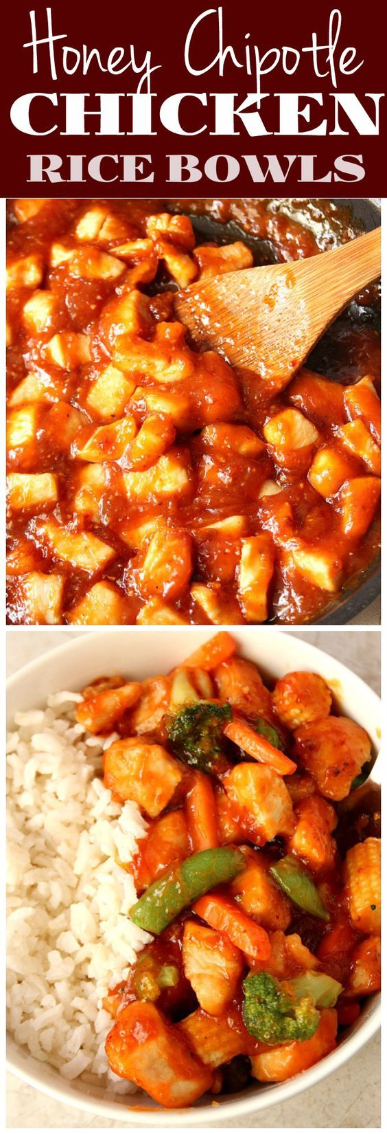 Honey Chipotle Chicken Rice Bowls Recipe - sweet and spicy chicken ...