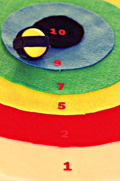 DIY Multiplication Velcro Dart Board Game