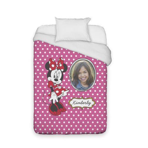 Disney Minnie Mouse Duvet Cover, Duvet, Duvet Cover w/ White Back, Twin, Pink