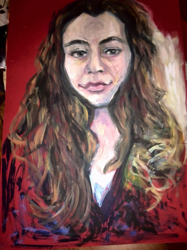 Self-portrait done in oil paint for morning drawing