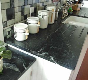 Soapstone Countertops Cost, Reviews, Installation Price. love the back splash