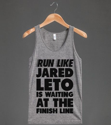 Run Like Jared Leto is Waiting at the Finish Line (neon) | Tank Top | Front