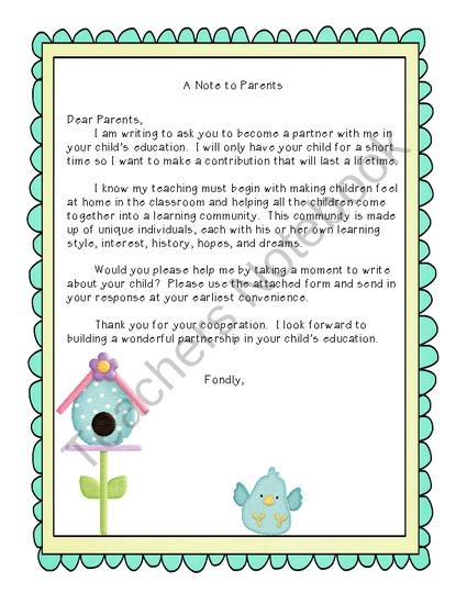 Free Welcome Letter from 3 Wishes on TeachersNotebook.com (3 pages)  - Welcome Letter