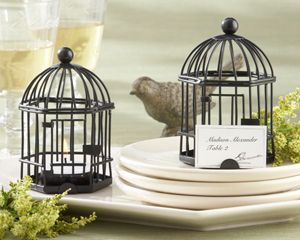 Birdcage Tea Light and Place Card Holder Favor.  Reminiscent of an enchanting Victorian birdcage, these Birdcage Tea Light and Place Card Holders bring classic elegance to rustic or other outdoor-themed wedding or bridal shower. This fabulous favor is superbly crafted from wire, just like the beautiful homes of songbirds in a bygone era. - Wine Country Occasions, www.winecountryoccasions.com
